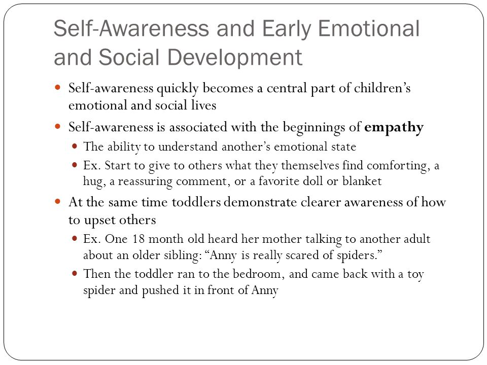 Self-Awareness and Early Emotional and Social Development