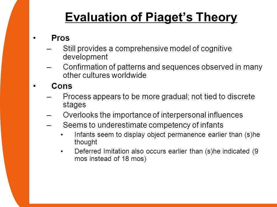 Evaluation of Piaget's Theory