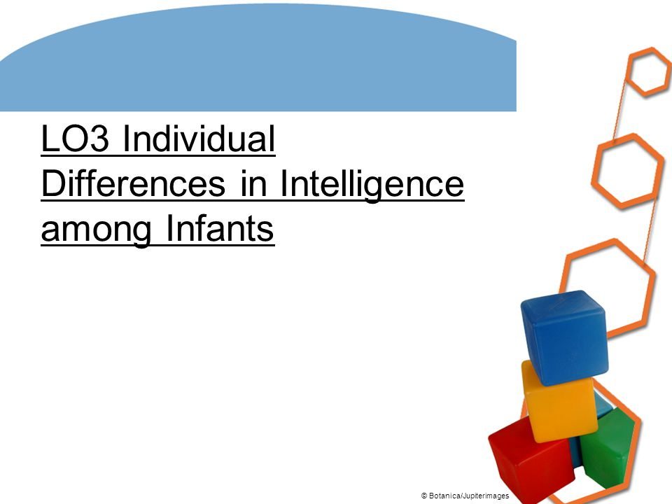 LO3 Individual Differences in Intelligence among Infants