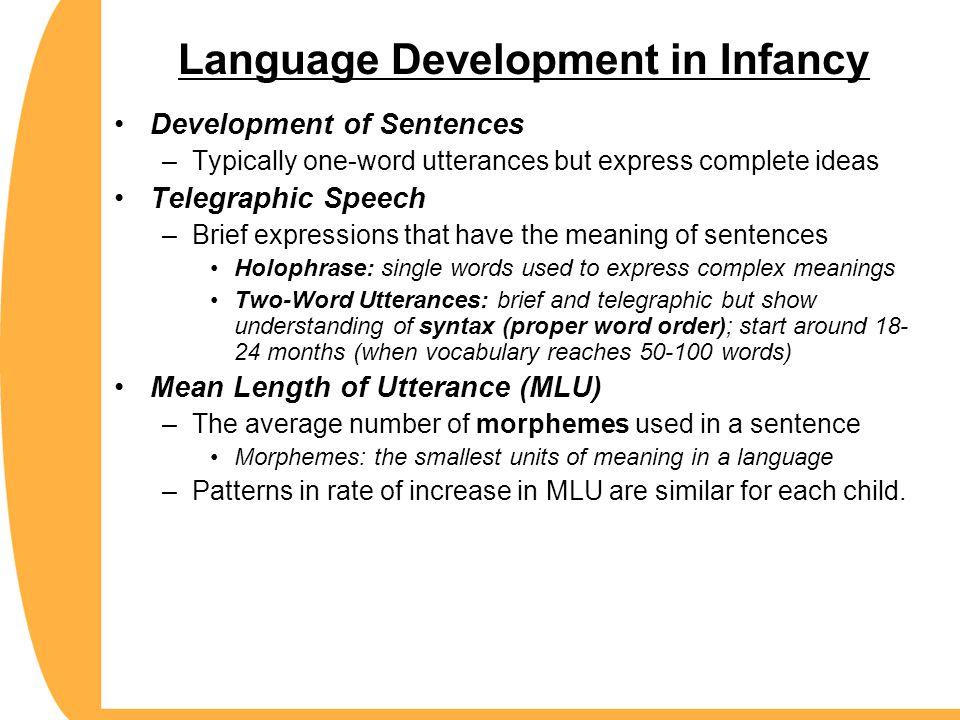 Language Development in Infancy