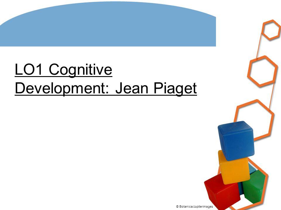 LO1 Cognitive Development: Jean Piaget