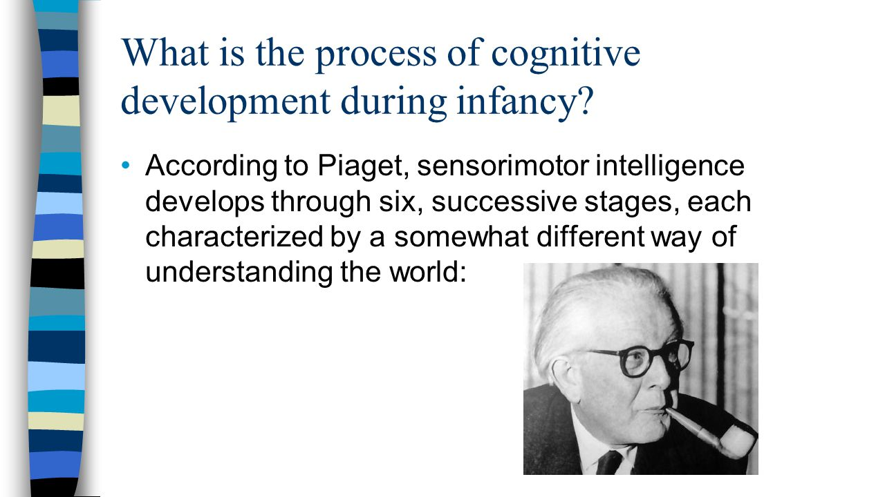 What is the process of cognitive development during infancy