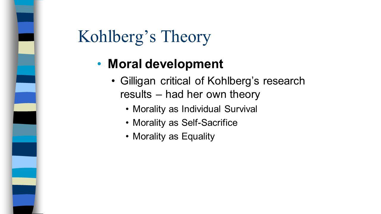 Kohlberg's Theory Moral development