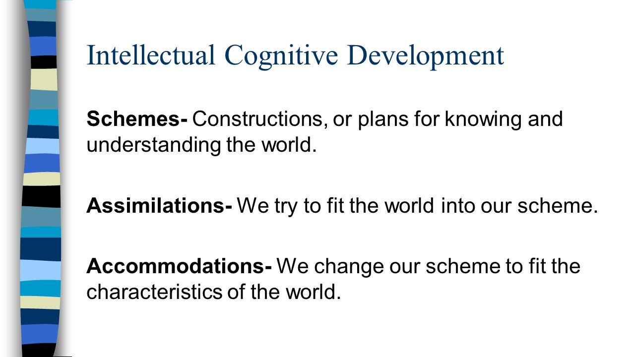 intellectual and cognitive development See what cognitive developmental milestones your child should be  it's good to know that the connection between cognitive development in toddlerhood and a .