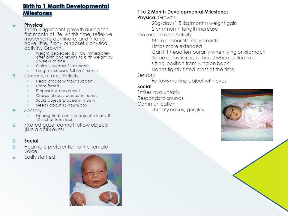 Birth to 1 Month Developmental Milestones