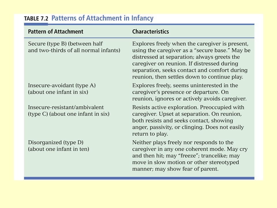 Attachment Phases of Attachment Studying Attachment