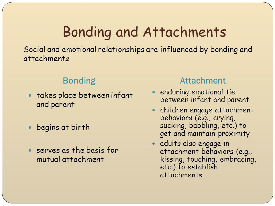 Bonding and Attachments