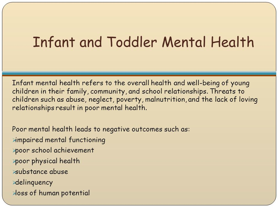 Infant and Toddler Mental Health