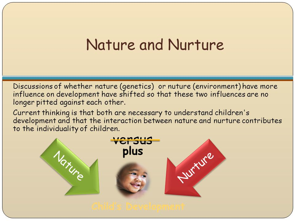 Nature and Nurture versus plus Nature Nurture Child's Development