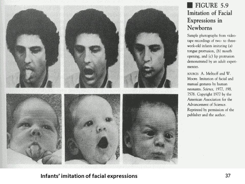 Infants' imitation of facial expressions