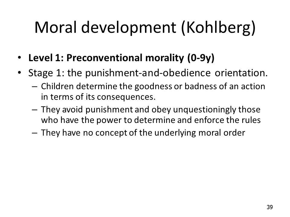 Moral development (Kohlberg)