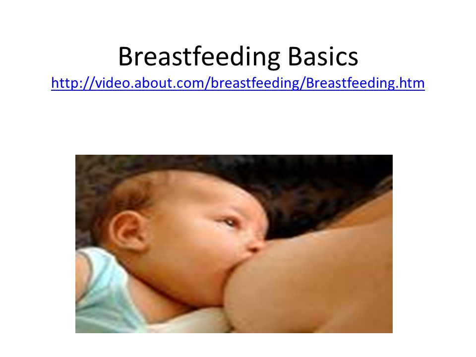 Breastfeeding Basics http://video. about