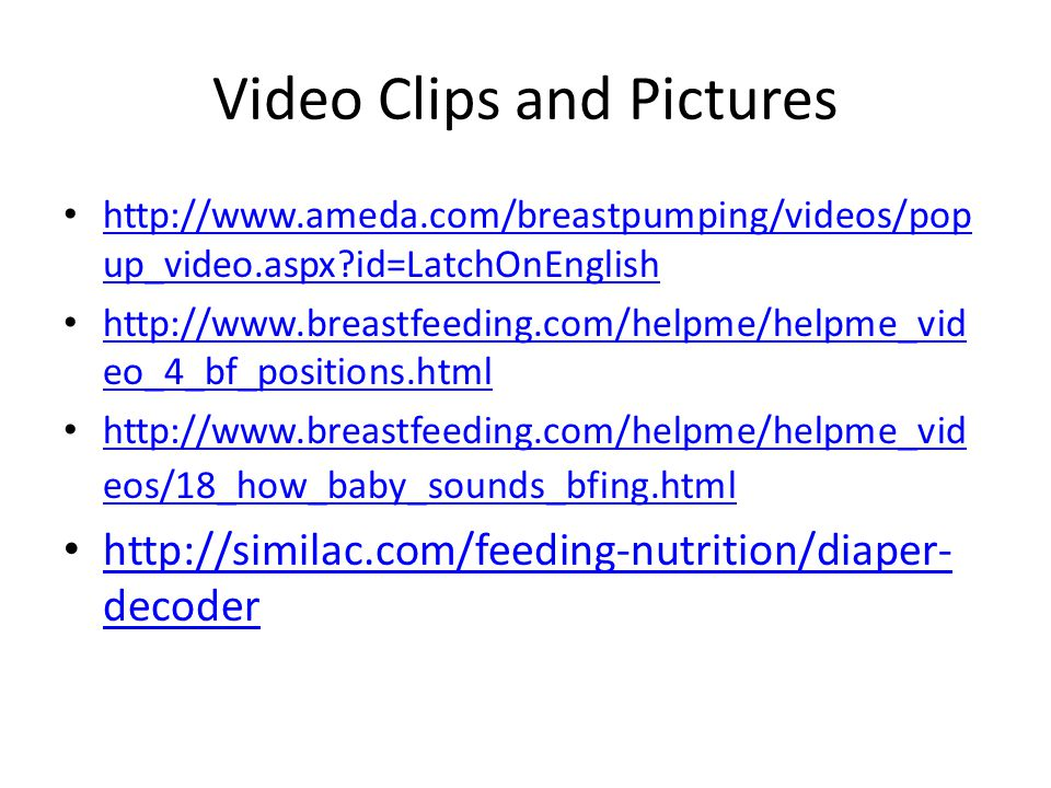 Video Clips and Pictures