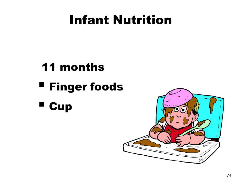 Infant Nutrition 11 months Finger foods Cup