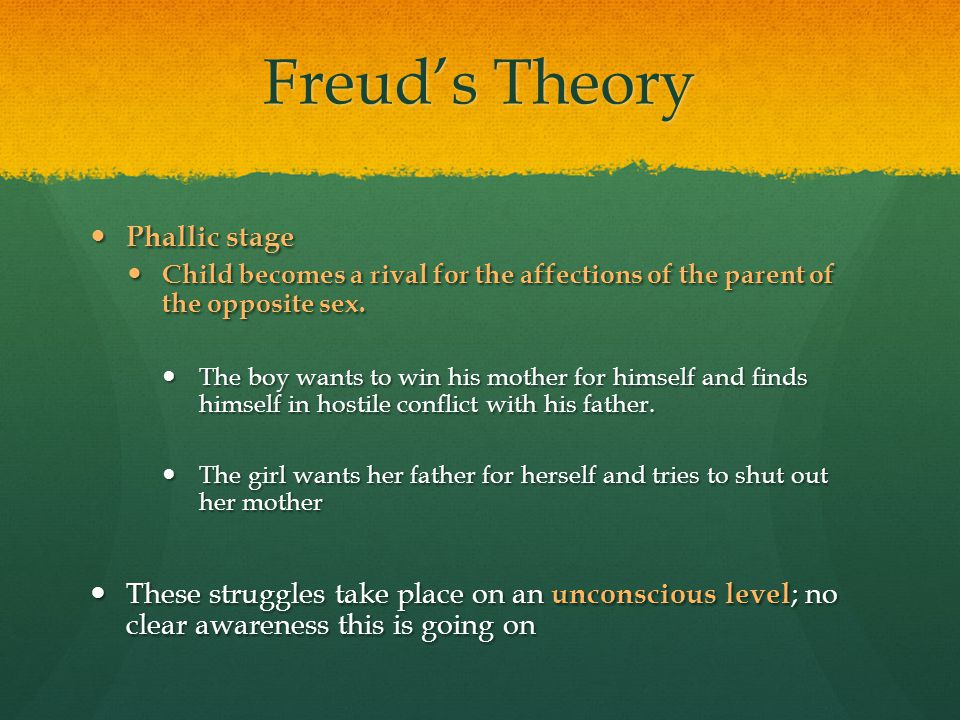 Freud's Theory Phallic stage