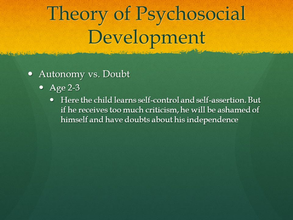Theory of Psychosocial Development