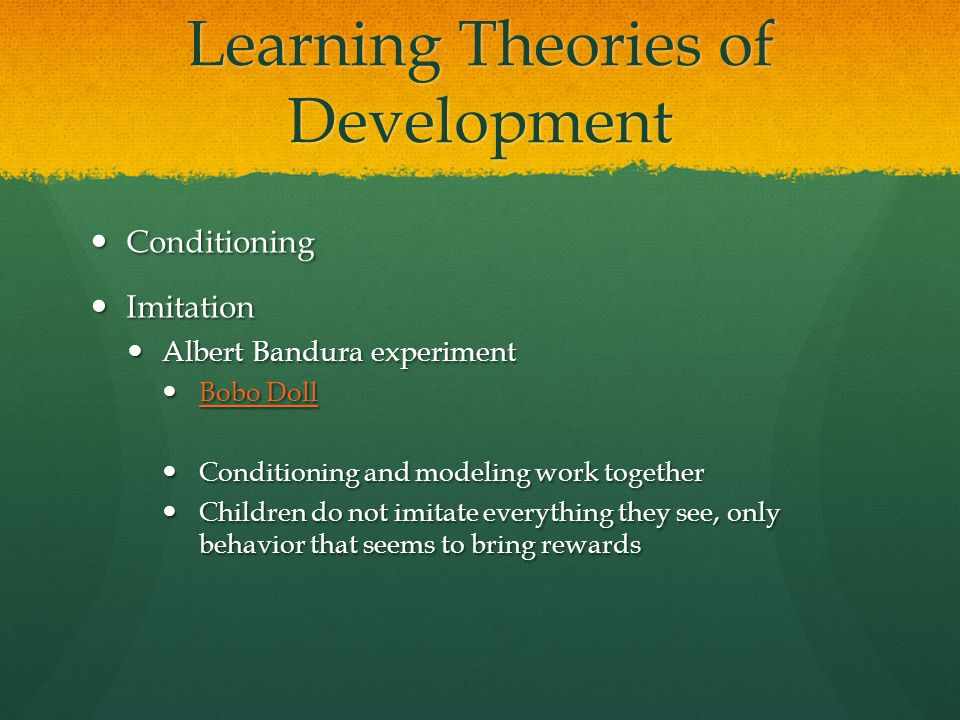 Learning Theories of Development