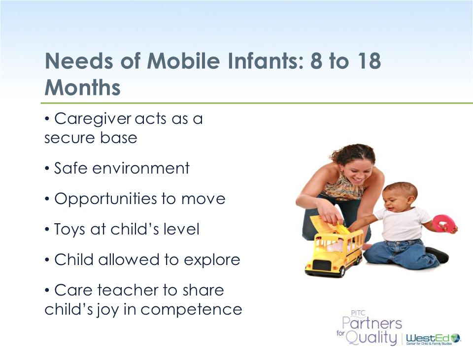 Needs of Mobile Infants: 8 to 18 Months