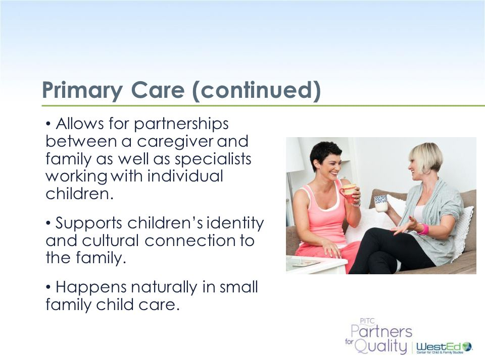 Primary Care (continued)
