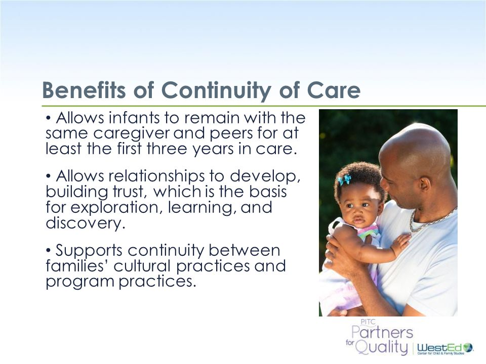 Benefits of Continuity of Care