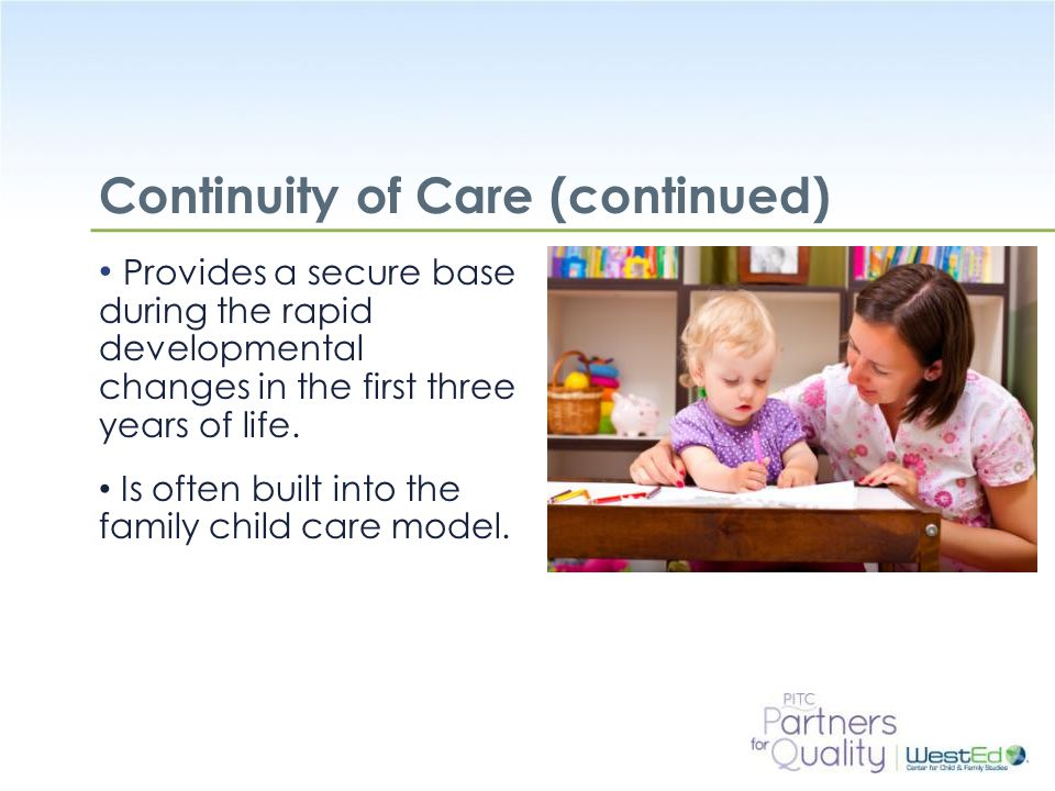 Continuity of Care (continued)