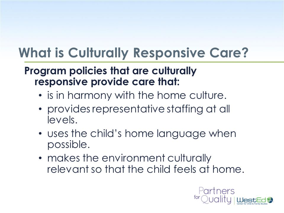 What is Culturally Responsive Care