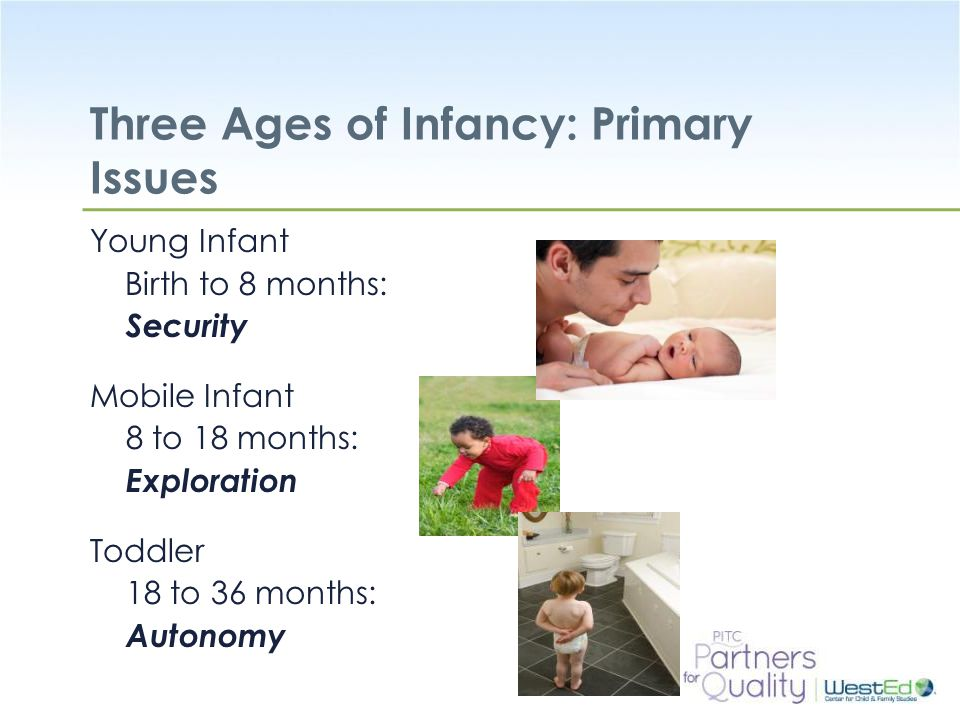 Three Ages of Infancy: Primary Issues