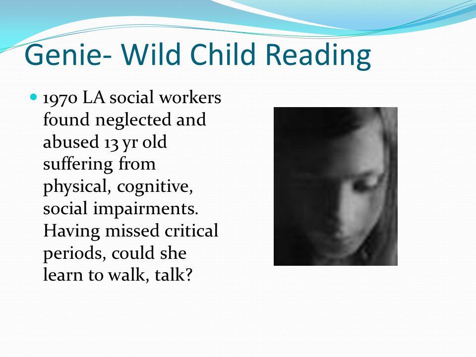 Genie- Wild Child Reading