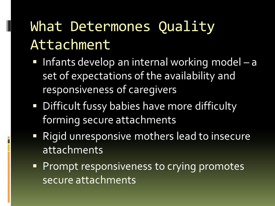 What Determones Quality Attachment