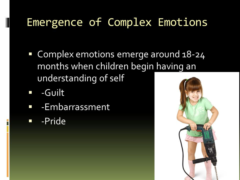 Emergence of Complex Emotions