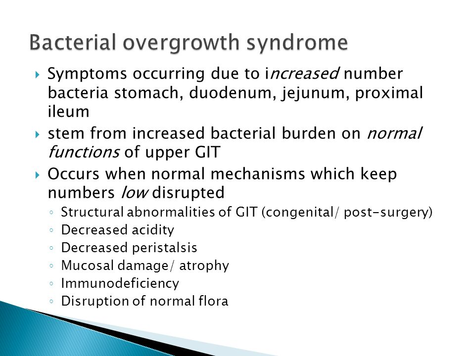 Bacterial overgrowth syndrome