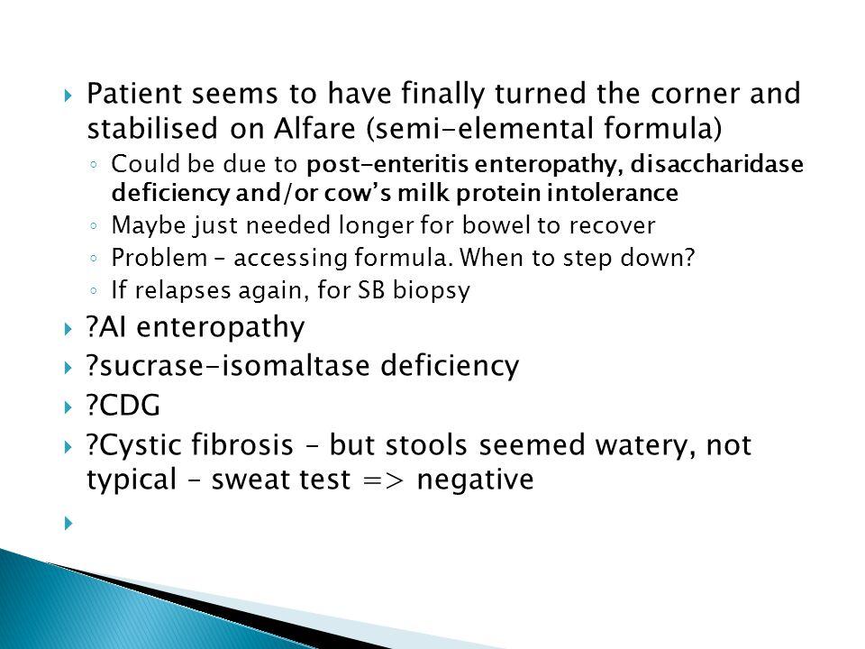 sucrase-isomaltase deficiency CDG