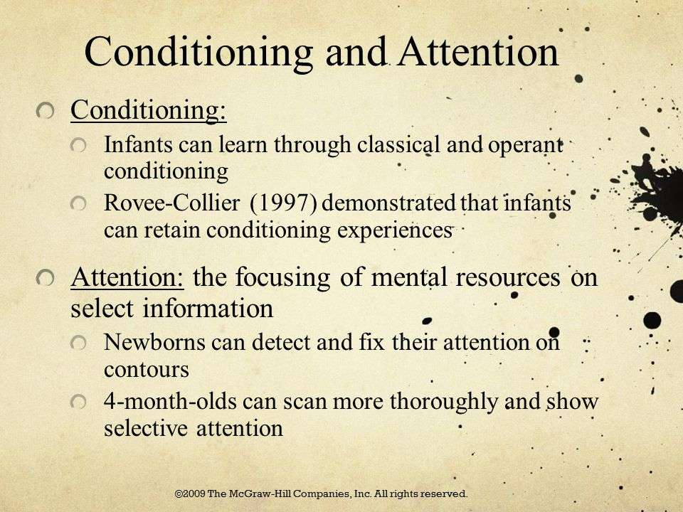 Conditioning and Attention