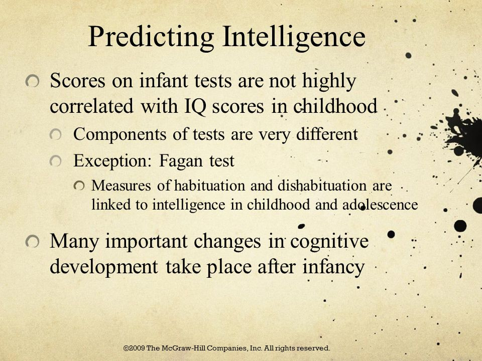 Predicting Intelligence