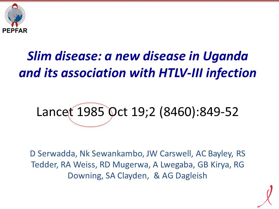 Slim disease: a new disease in Uganda and its association with HTLV-III infection