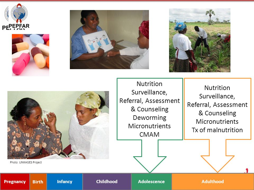Nutrition Surveillance, Referral, Assessment & Counseling
