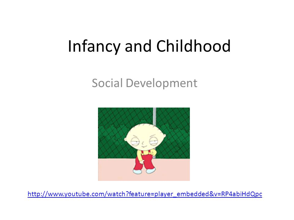 Infancy and Childhood Social Development