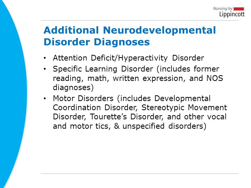 Additional Neurodevelopmental Disorder Diagnoses