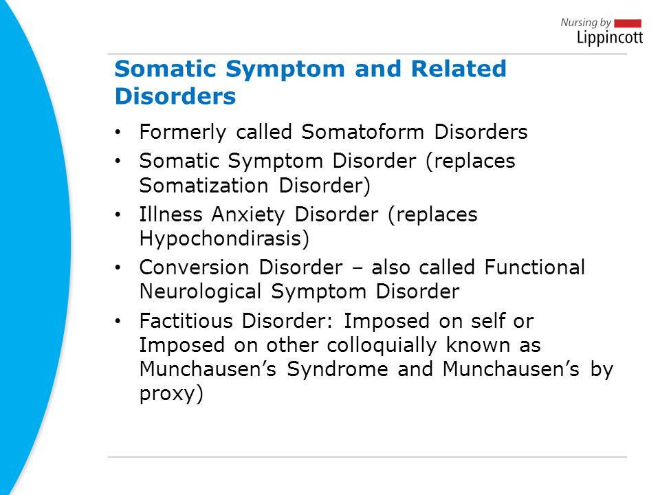 Somatic Symptom and Related Disorders