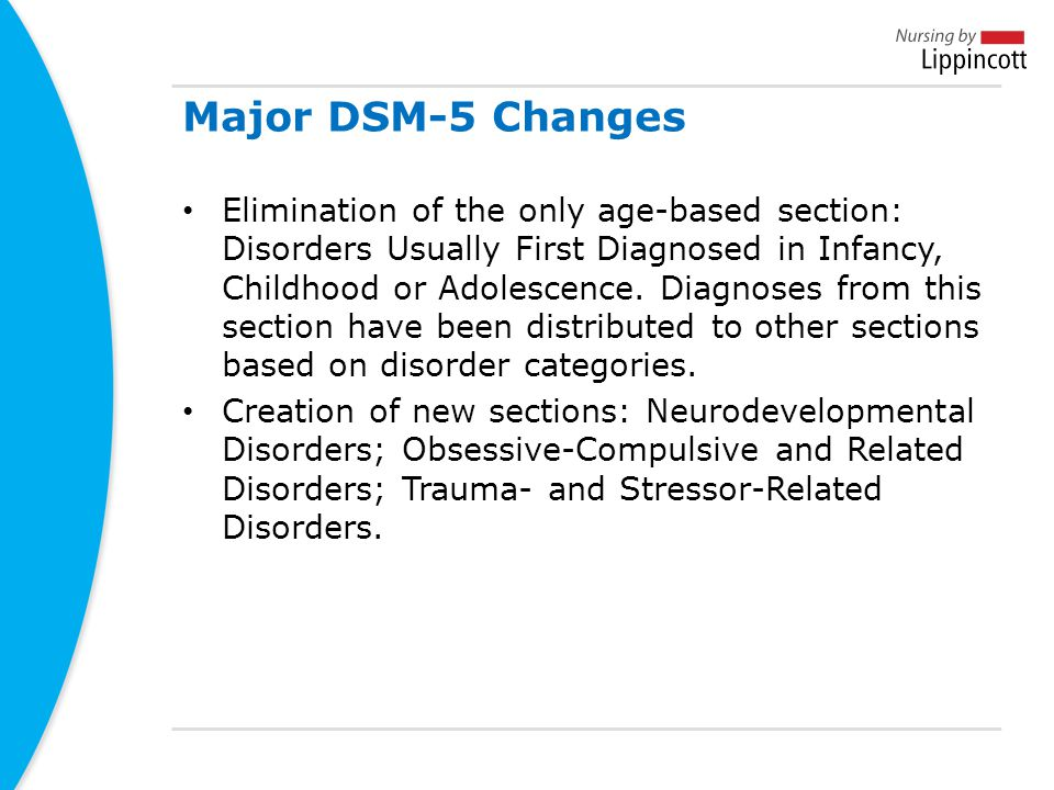 Major DSM-5 Changes