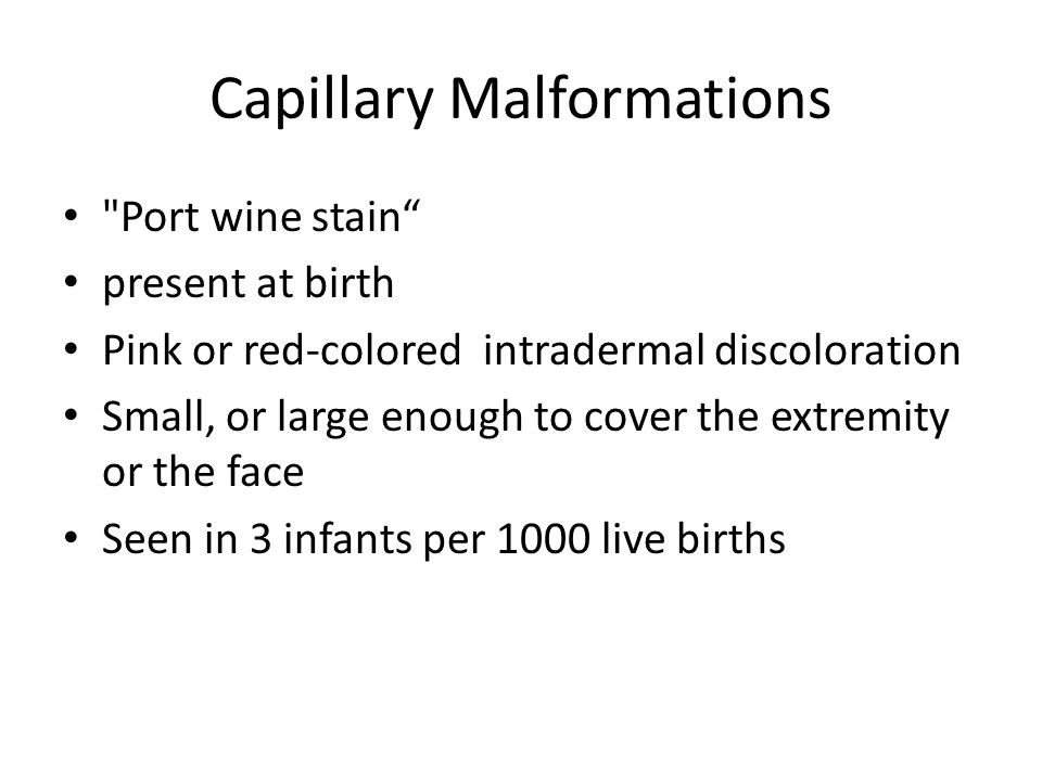 Capillary Malformations