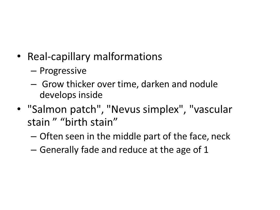 Real-capillary malformations