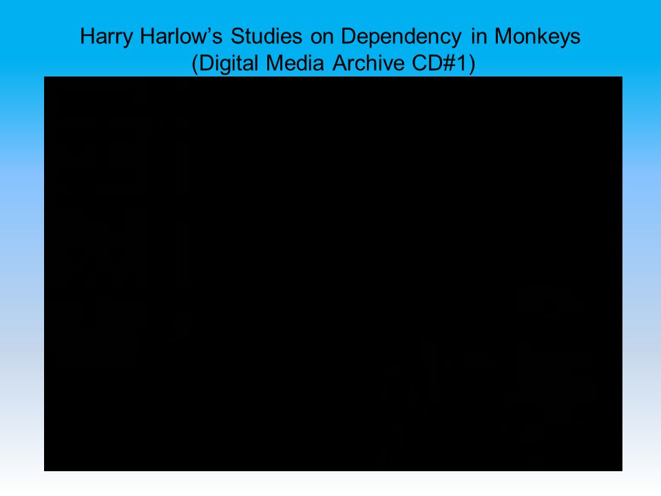 Harry Harlow's Studies on Dependency in Monkeys (Digital Media Archive CD#1)