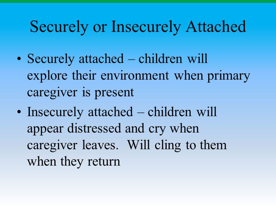 Securely or Insecurely Attached