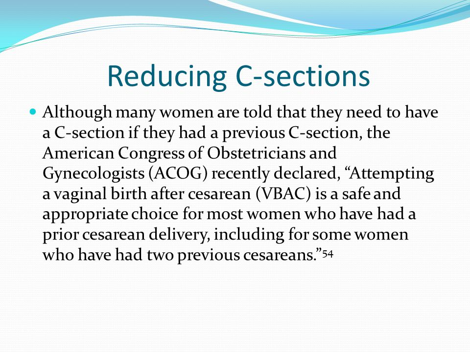 Reducing C-sections