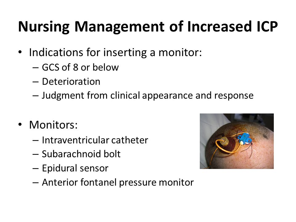 Nursing Management of Increased ICP