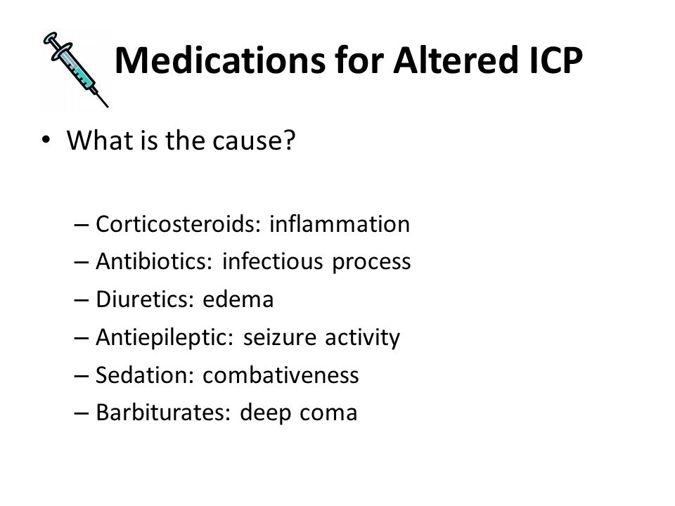Medications for Altered ICP