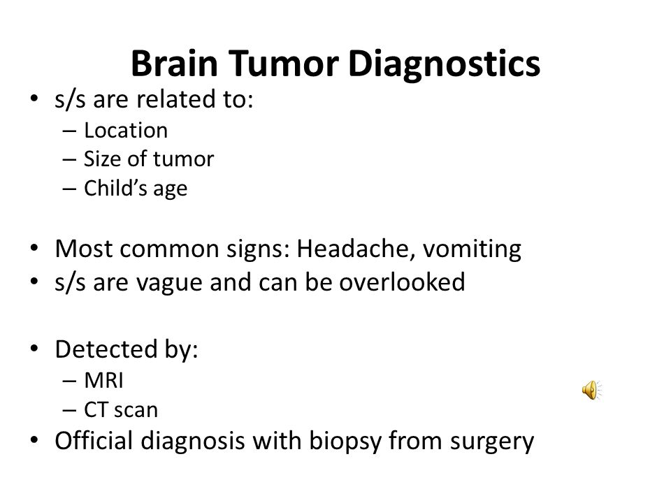 Brain Tumor Diagnostics