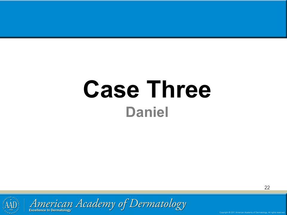 Case Three Daniel Transient benign rash with differential