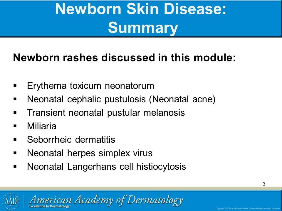 Newborn Skin Disease: Summary